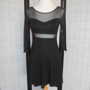 H&M Divided Black Dress With Mess Insert SZ Small